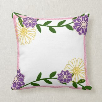 Flower Pillow Throw