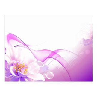 Flower-Pink-Background-Vector-Art DIGITAL REALISM Postcard