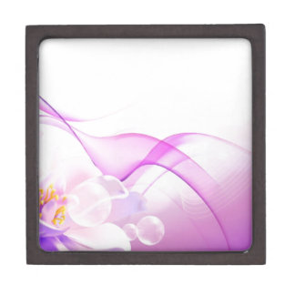 Flower-Pink-Background-Vector-Art DIGITAL REALISM Premium Jewelry Boxes