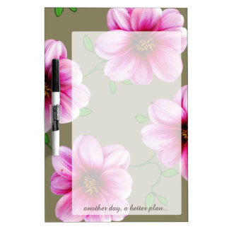Flower Pink Dahlia any Text on any Color Dry-Erase Board