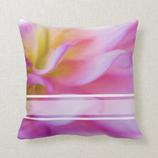 Flower Pink Dahlia Throw Pillow