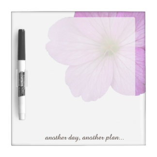 Flower Pink Geranium any Text on any Color Dry-Erase Board