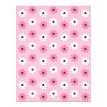 Flower Pink White Baby Scrapbook Paper