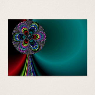 Flower Pinwheel Abstract Business Card