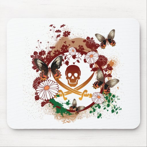 Flower Pirate Mouse Pad