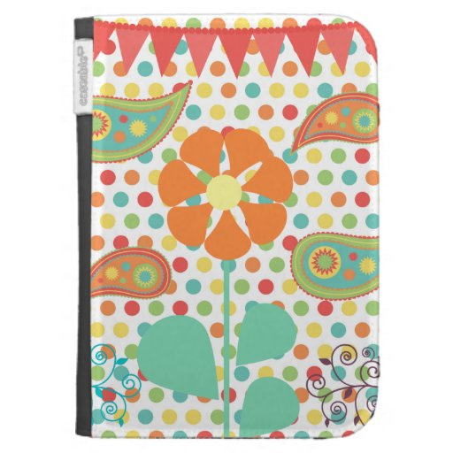 Flower Polka Dots Paisley Spring Whimsical Gifts Kindle Cases