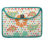 Flower Polka Dots Paisley Spring Whimsical Gifts Sleeve For MacBook Pro