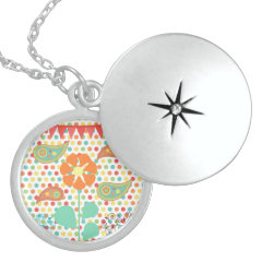 Flower Polka Dots Paisley Spring Whimsical Gifts Pendant
