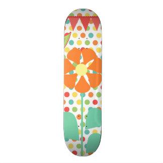 Flower Polka Dots Paisley Spring Whimsical Gifts Skateboard Deck