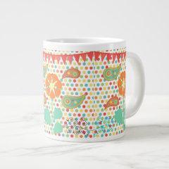 Flower Polka Dots Paisley Spring Whimsical Gifts Jumbo Mug