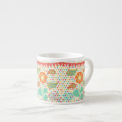 Flower Polka Dots Paisley Spring Whimsical Gifts Espresso Cup