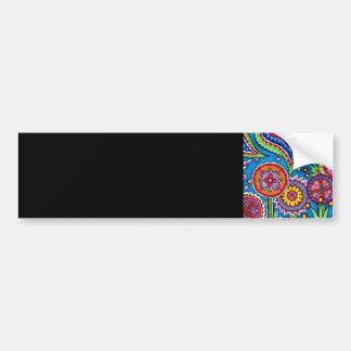 Flower pop bumper sticker