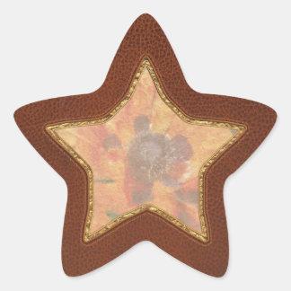 Flower - Poppy - Orange Poppies Star Sticker