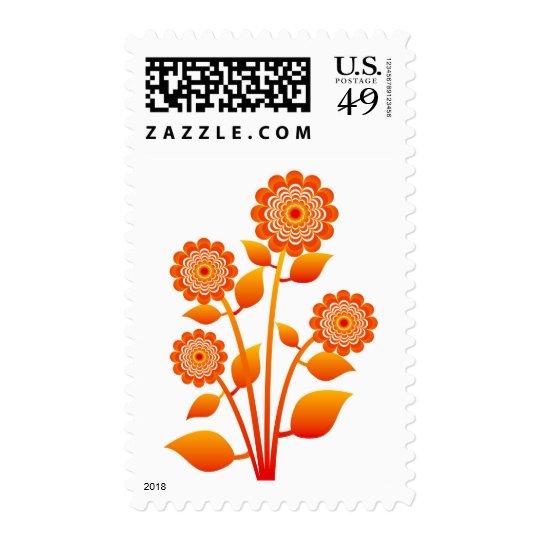 flower postage