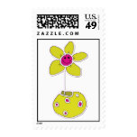 flower postage stamp