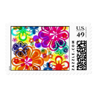 Flower Postage Stamps