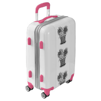 Flower Pot art Luggage