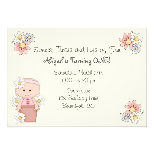 1St Girl Birthday Invitations as amazing invitation template