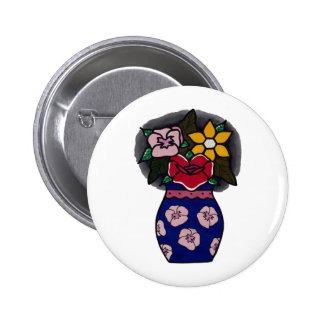 FLOWER // POT Badge. Button