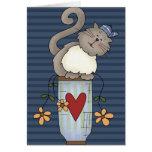 Flower Pot Cat Card