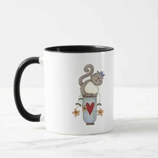 Flower Pot Cat Mug