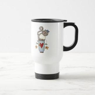 Flower Pot Cat Travel Mug