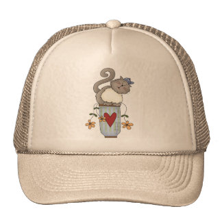 Flower Pot Cat Trucker Hat