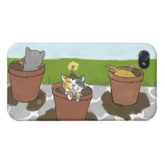Flower Pot Kittens iPhone 4 Case