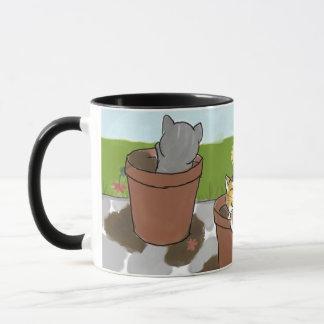 Flower Pot Kittens Mug