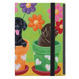 Flower Pot Labrador Puppies iPad Mini Covers