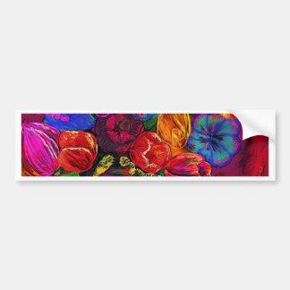 Flower Pot Painting Bumper Sticker