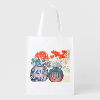 Flower Pot Totebag Grocery Bags