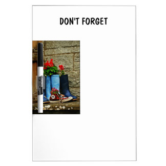 Flower pot wellies boots and runner Dry-Erase board