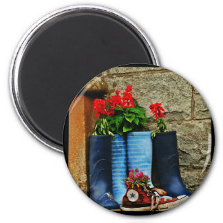 Flower pot wellies boots and runner magnet