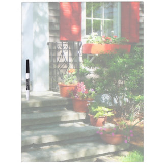 Flower Pots and Red Shutters Dry-Erase Whiteboard