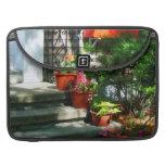 Flower Pots and Red Shutters MacBook Pro Sleeve