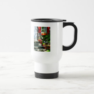 Flower Pots and Red Shutters Coffee Mug
