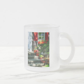 Flower Pots and Red Shutters Mugs