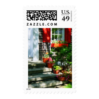 Flower Pots and Red Shutters Stamps