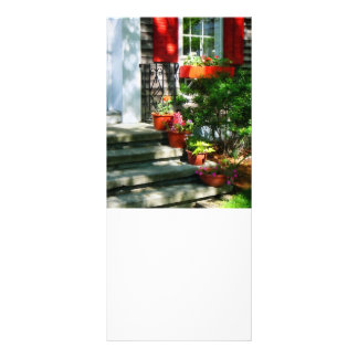 Flower Pots and Red Shutters Rack Cards