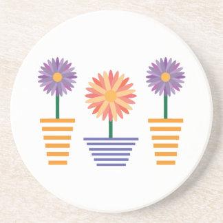 Flower Pots Coasters