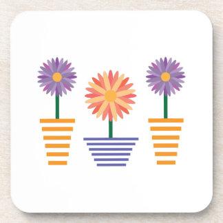 Flower Pots Drink Coasters