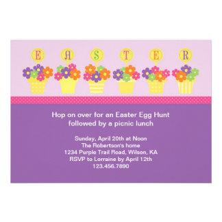 Flower Pots Easter Invitation