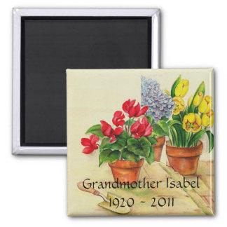 Flower pots, Grandmother Isabel1920 - 2011 Magnet