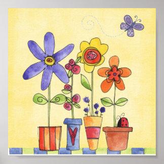 flower pots posters