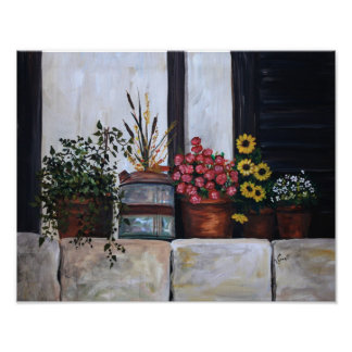 Flower pots poster