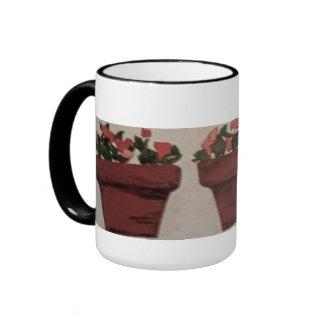 Flower Pots Ringer Mug