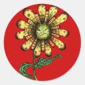 Flower Pouter Classic Round Sticker