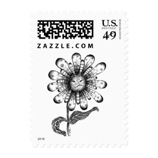 Flower Pouter Postage Stamp