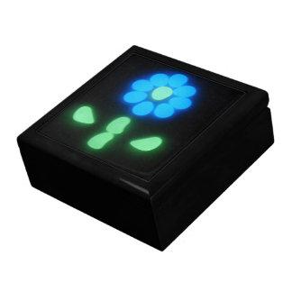 Flower power 1 del resplandor joyero cuadrado grande